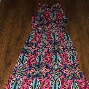 Xhileration Geometric Maxi Dress